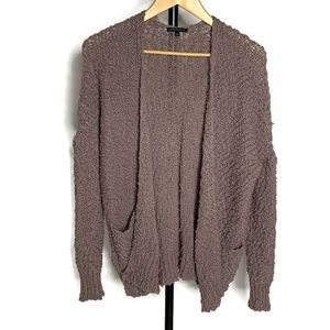 Staccato Brown Knit Long Sleeve Cardigan Sweater
